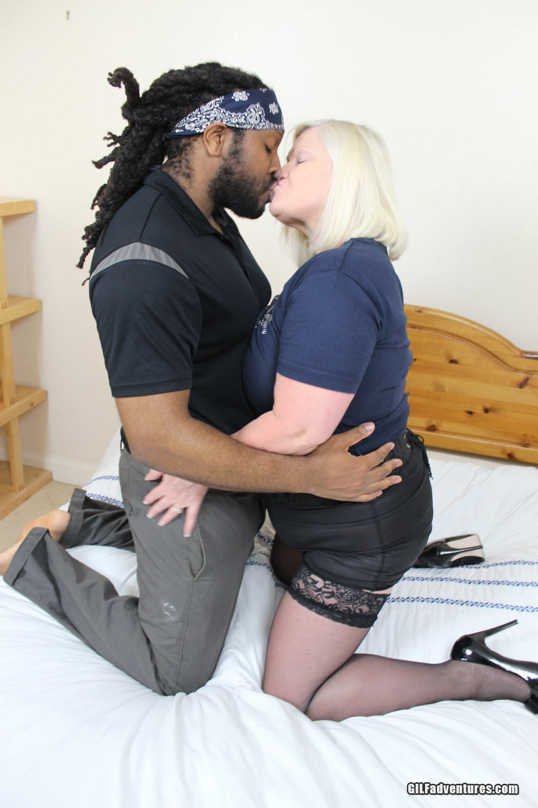 15 pics of Grandma Lacey gets her first taste of Rasta cock